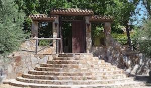 portico de la villa rural